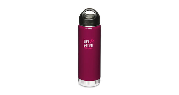 Klean Kanteen Wide Insulated Drinkfles met RVS Loop Cap, 592 ml roze